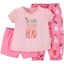 Conjunto Pijama Blusa Short Carters T18 Meses Envio Gratis