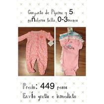 Set De 1 Pijama Carters Y 5 Pañaleros Gerber De 0-3 Meses