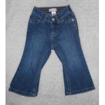 Old Navy! Modernos Jeans Acampanados Para Beba, 12-18 Meses