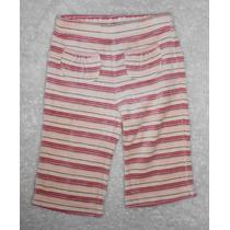 Old Navy! Pantalón De Pants, Tipo Velour, Rayas, 6-12 Meses