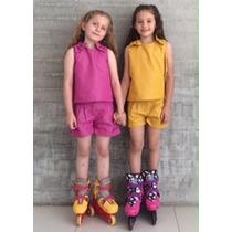 Shorts Para Bebé En Colores Rosa, Amarillo Y Verde