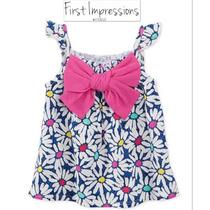 Blusa Nina 2 Anos First Impressions Macys Blanca Azul Rosa!!