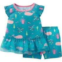 Pijama Blusa Shorts Carters Niña Bebe T24 Meses Envio Gratis