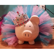 Tutus Disney Vestido Niña Peppa Pig Tutu Moño $550