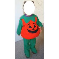 Precioso Disfraz Calabaza Talla 2 Halloween Marca Mini Wear