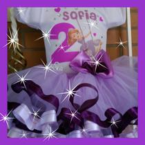 Tutu Con Listón Princesa Sofía, Frozen, Elsa Super Lindos!