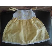 Vesitidito Fresco Amarillo Blanco Talla 2