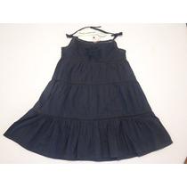 Vestido De Tirantes Azul Marino Para Niña Importado 3 Años
