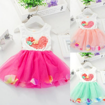 Taboö Kid - Vestido Formal Para Bebita Con Corazon - 20203
