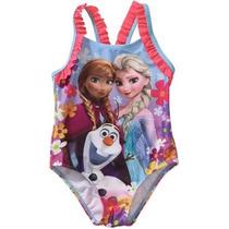 Traje De Baño Niña Disney Frozen Talla 2 Envio Gratis