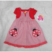 Youngland! Vestido Rojo Con Torerita Y Catarinas Nena 3 Años