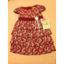 Vestido Rojo Niña 1 Año. Precioso! Con Rosas Y Diadema!