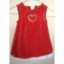 Vestido Rojo Navidad Para Nena De 12 Meses Clave Vn149
