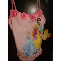Traje De Baño Princesas Disney Store Y Bata Salida De Baño