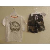 Hermosos Shorts Tipo Cargo Y Camisetas Marca Carters