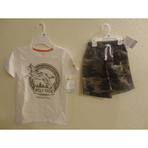 2 Shorts Tipo Cargo Y 5 Camisetas Todo Marca Carter´s Talla5