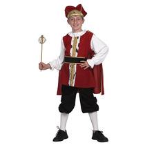 Tudor Rey Traje - Niño Niños Niños Medievales Grandes