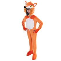 Fox Traje - Niños Childrens Big Head Fantastic Mr Fantasía