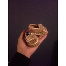 Zapatitos,mocasines Tejidos En Crochet 100%algodon Para Bebe