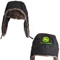 Gorra John Deere \deere Logo\ Negro Trapper Juventud Estilo