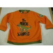 Camisa Naranja Con Dinosaurio Rex Para Bebe Niño 12 Meses