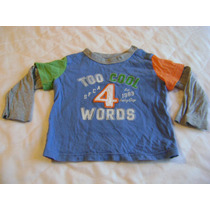 Camisa Manga Larga Niño Bebe Gap 6-12 Meses Azul,gris, Verde