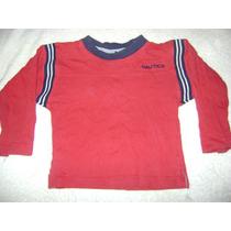 Camisa Manga Larga Roja Nautica Para Bebe Niño 24 Meses