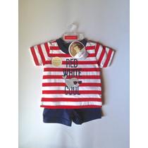 Conjunto Camiseta Shorts Carters Recien Nacido Envio Gratis