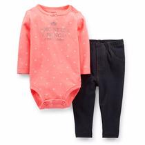 Conjunto De 2 Piezas Para Niña - Carters- Leggins Tipo Jeans