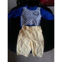 Conjunto De Bebe Camisa Y Pantalon De 0 A 3 Meses