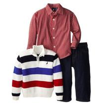 Ituxs I Nautica Conjunto Sueter/camisa Niño I Envío Gratis