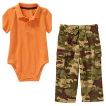 Conjunto Pañalero Pantalon Camuflaje T12 Meses Envio Gratis