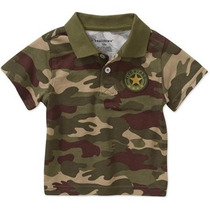 Camisa Playera Militar Camuflaje T24 Meses Niño Envio Gratis