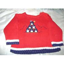 Sueter Rojo Con Arbol De Navidad Para Bebe 6-9 Meses