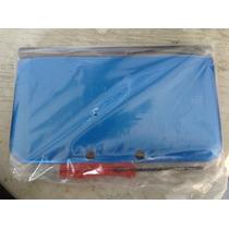 Carcasa Para 3ds Xl Azul Con Tornillos + Desarmador Nueva!