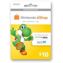 Tarjeta Gift Card Nintendo Eshop $10 Usd Para Juegos Wii 3ds