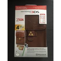 Estuche De Piel Para Nintendo 3ds De Zelda + Accesorios
