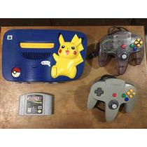 Nintendo 64 Edicion Pikachu Con 2 Controles Y 1 Juego