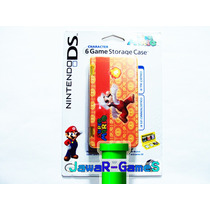 Estuche Para Guardar 6 Juegos De Nintendo Ds Y 3ds Mario