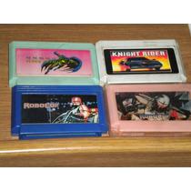 4cartuchos Videojuegos Family Batman Knight Rider Robocop1&3