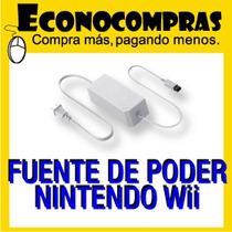 Fuente De Poder Ac De Nintendo Wii 100% Nuevo!!!!!!!