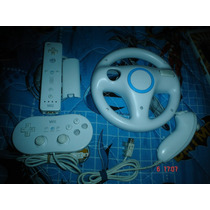 Nintendo Wii-wii Remote + Nunchuk + Volante + Control Clasic