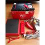 Nintendo Wii Mini Completo Con Caja Cables Controles Rojo