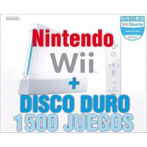Nintendo Wii Con Disco Duro +2000 Juegos Y 2 Controles Promo