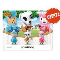 Amiibo Paquete De 3 Figuras Animal Crossing Nuevo Wii U/3ds