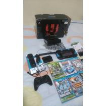 Wii U Deluxe 32gb Casi Nuevo Con 7 Juegos Y 3 Controles