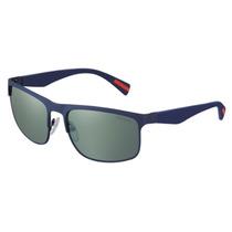 Lentes De Sol Prada Ops 56ps Tfy3c0 Blue Rubber Green Mirror