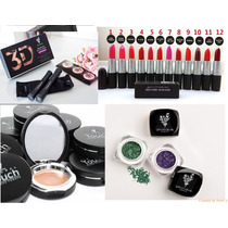 Set 4 Piezas Rimel,sombra Y Maquillaje Younique + Labial Mac