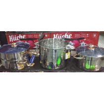 Batería De Cocina Grande 12 Piezas Angie By Hoffner