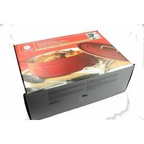 Cazuela De Hierro Fundido Esmaltado Rojo 8 Qt Martha Stewart